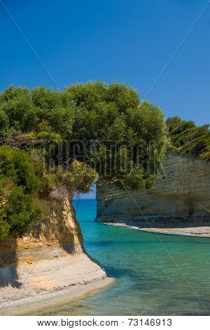 SIdari on the island of Corfu Greece