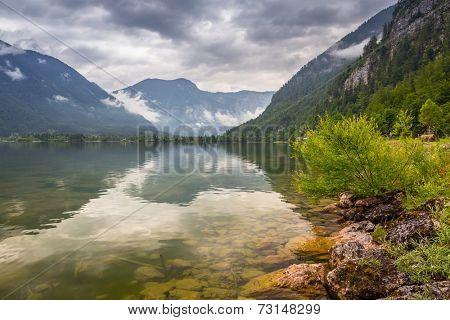 Hallstatter lake in the Alps of Austria