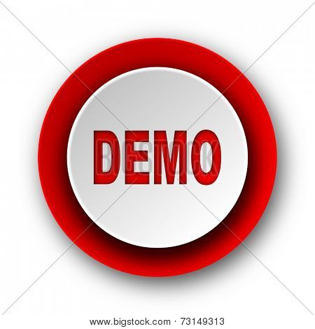 demo red modern web icon on white background