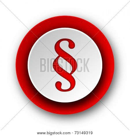 paragraph red modern web icon on white background