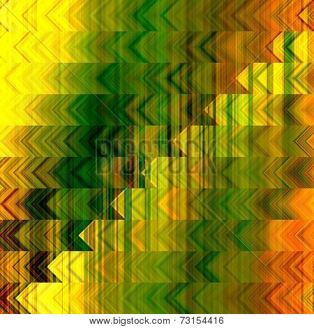 art abstract geometric horizontal stripes pattern background in green, brown, orange and gold colors