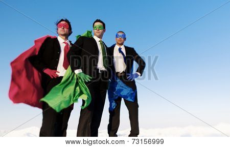 Business super heroes