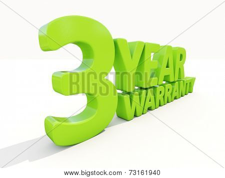 The phrase Warranty on white background