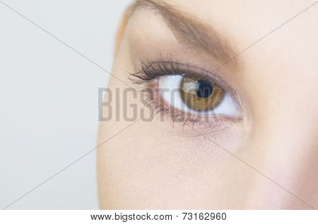 Extreme close up of Hispanic woman's eye