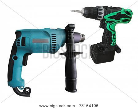 drill under the white background