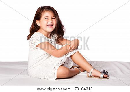 Beautiful Cute Girl Sitting