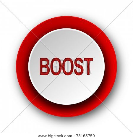 boost red modern web icon on white background
