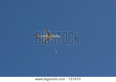 Jet over Moon