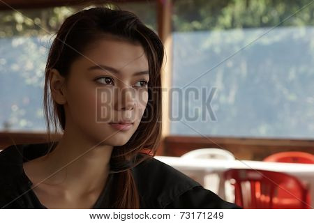 Romantic portrait of the beautiful young girl