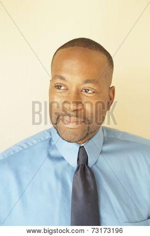 African American man wearing tie