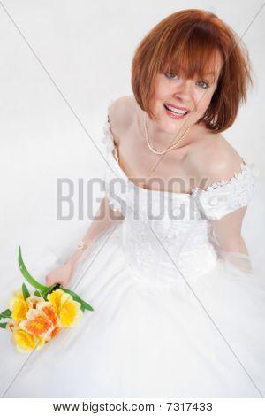 Attractive Thirties Caucasian Brunette Woman