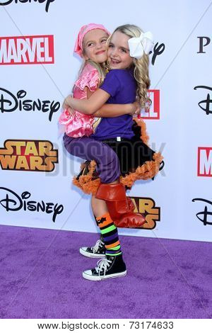 LOS ANGELES - OCT 1:  Mia Talerico, McKenna Grace at the VIP Disney Halloween Event at Disney Consumer Product Pop Up Store on October 1, 2014 in Glendale, CA