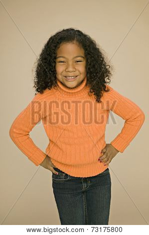 Pacific Islander girl with hands on hips