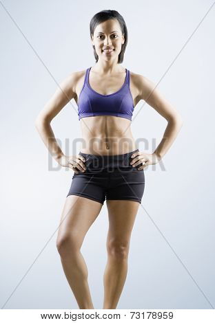 African American woman wearing athletic gear