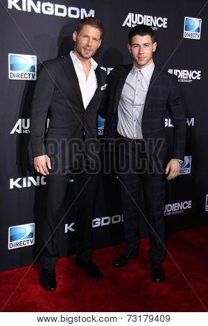 LOS ANGELES - OCT 1:  Matt Lauria, Nick Jonas at the