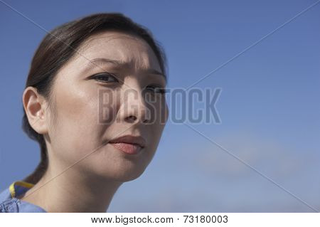 Close up of Asian woman