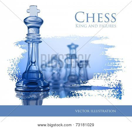 Blue Chess - vector illustration