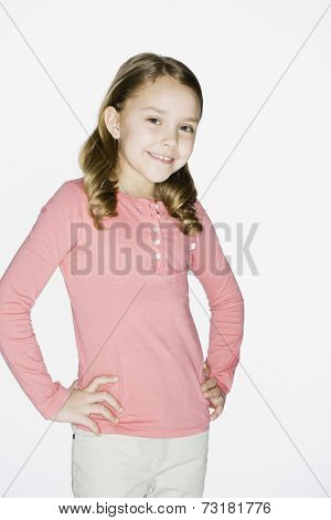Hispanic girl with hands on hips