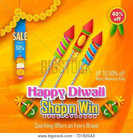 illustration of Happy Diwali Background for advertisement and promotion