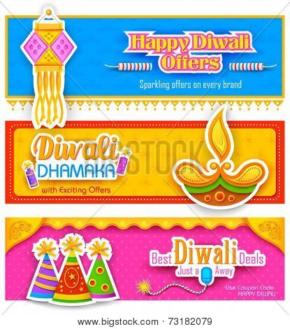 illustration of Diwali banner for promotion and advertisement