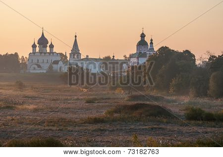 The panorama of the city of Suzdal, Russia