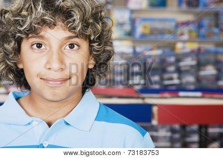 Close up of Hispanic boy smiling