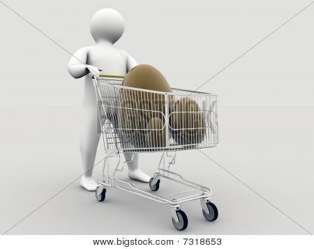 Easter eggs Within Shopping Cart