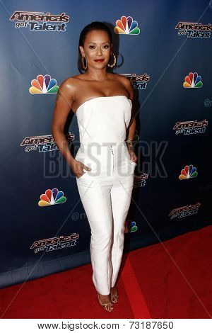 NEW YORK-SEP 17: Singer Mel B attends the post-show red carpet of America's Got Talent: The Finale Season 9 at Radio City Music Hall on September 17, 2014 in New York City.