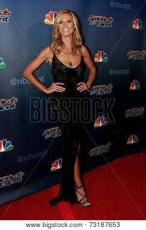 NEW YORK-SEP 17: Model Heidi Klum attends the post-show red carpet of America's Got Talent: The Finale Season 9 at Radio City Music Hall on September 17, 2014 in New York City.