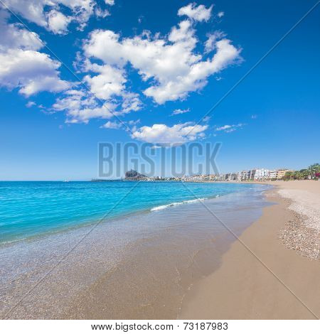 Aguilas beach Murcia Levante bay at Mediterranean sea of Spain