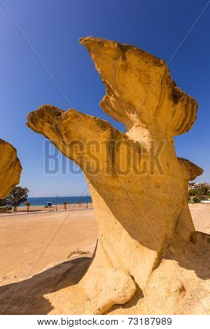 Bolnuevo Mazarron eroded sandstones in Murcia spain