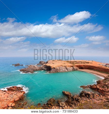 Cabo de Palos beach near Manga Mar Menor Murcia at Spain