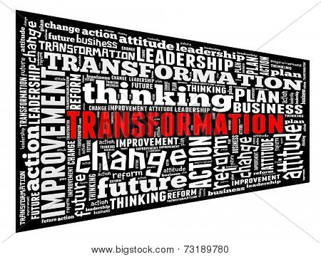 Transformation in word collage