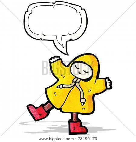 cartoon man in raincoat