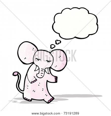 cartoon elephant remembering