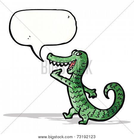 grinning crocodile cartoon