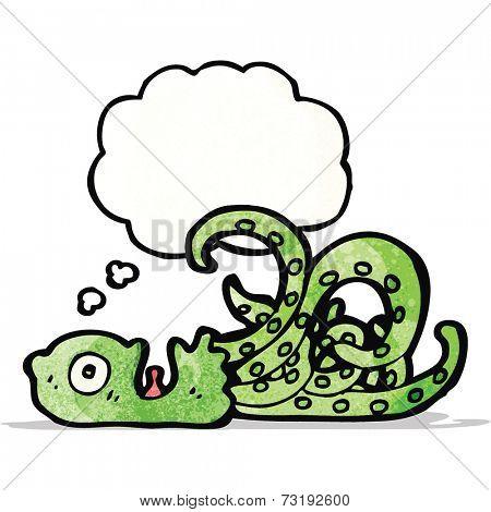 cartoon giant octopus