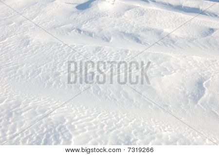 relief on the snow