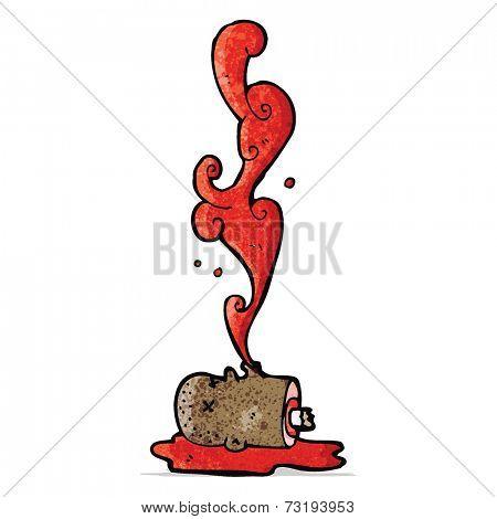 cartoon gross bloody head
