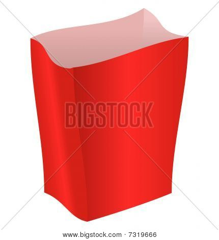 Red striped package