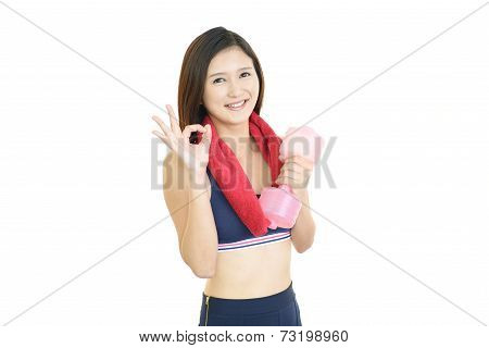 Beautiful woman doing fitness