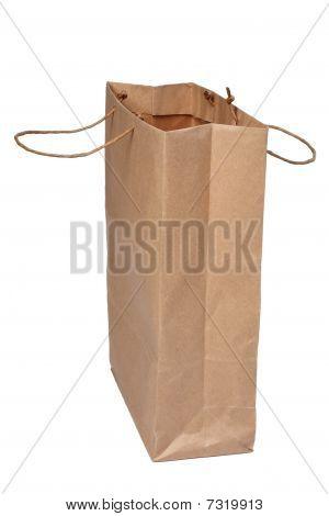 Paper Shopping Bag On White.