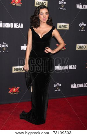 LOS ANGELES - OCT 2:  Christian Serratos at the