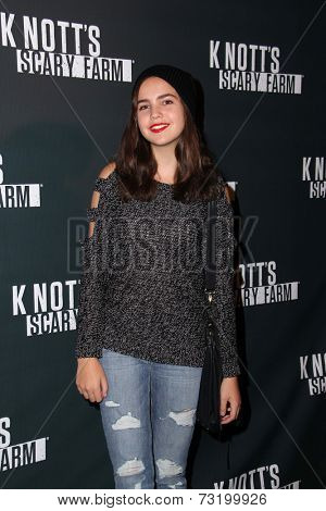 LOS ANGELES - OCT 3:  Bailee Madison at the Knott's Scary Farm Celebrity VIP Opening  at Knott's Berry Farm on October 3, 2014 in Buena Park, CA