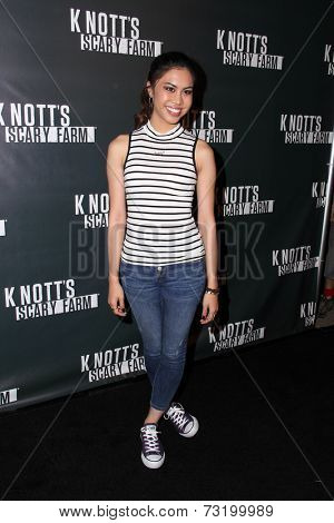 LOS ANGELES - OCT 3:  Ashley Argota at the Knott's Scary Farm Celebrity VIP Opening  at Knott's Berry Farm on October 3, 2014 in Buena Park, CA
