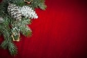 stock photo of christmas bells  - Christmas background with decorations and toys - JPG