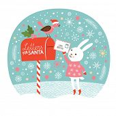 stock photo of rabbit year  - Letter for Santa - JPG