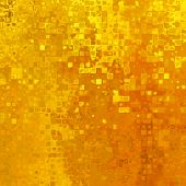 picture of pixel  - art abstract pixel geometric  pattern background in gold and orange colors - JPG