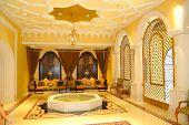 stock photo of reception-area  - Reception area in luxury hotel Dubai United Arab Emirates - JPG