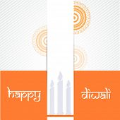 picture of rangoli  - Poster of beautiful half rangoli and candle on orange - JPG